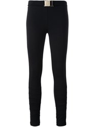 Versace Jeans Cut Out Knee Skinny Trousers Black
