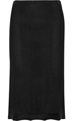 Isabel Marant Truman Cashmere And Silk Blend Midi Skirt Black