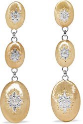 Buccellati Macri 18 Karat Yellow And White Gold Diamond Earrings One Size