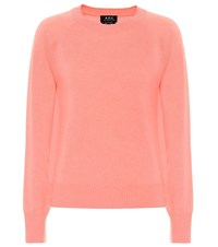 A.P.C. Stirling Cashmere Sweater Pink