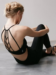 Free People Ada Bra Black