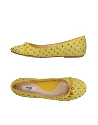 Moschino Ballet Flats Yellow