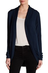 Heather By Bordeaux Cocoon Cardigan Blue