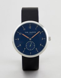 Ted Baker Te50011007 Josh Leather Watch In Black 42Mm