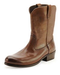 Tom Ford Christopher Leather Cowboy Boot Brown