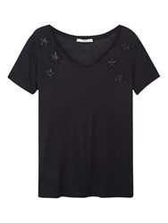 Mango Star T Shirt Black