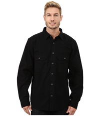Woolrich Expedition Chamois Shirt Black Men's Long Sleeve Button Up