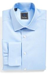 Men's David Donahue Regular Fit Dobby Check Dress Shirt