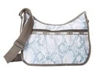 Le Sport Sac Classic Hobo Bag Aqua Snake Cross Body Handbags Blue