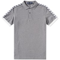 Fred Perry Taped Polo Grey