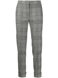 Pt01 Andrea Checked Cropped Trousers 60