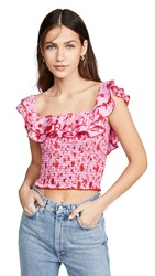 Likely Athena Top Red Pink Multi