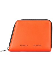 Proenza Schouler Trapeze Zip Wallet Yellow And Orange