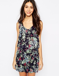 Esprit Boho Floral Print Dress Blue