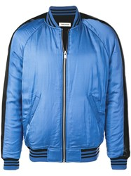 Zadig And Voltaire Brady Satin Bomber Jacket Blue