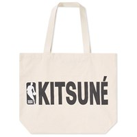 Maison Kitsune X Nba Tote Bag Neutrals