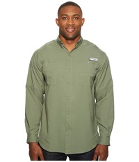 Columbia Tamiami Ii L S Tall Cypress Men's Long Sleeve Button Up Green