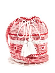 Dodo Bar Or Kashi Jacquard Bucket Bag Red
