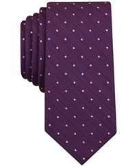 Bar Iii Men's Canyon Dot Skinny Tie Only At Macy's Purple