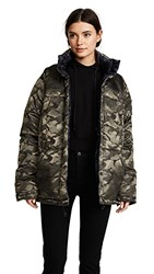 Kendall Kylie Reversible Puffer Coat Army Navy