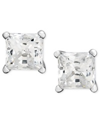 Macy's Diamond Earrings 14K White Gold Princess Cut Diamond Studs 1 Ct. T.W.