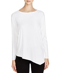 Eileen Fisher Asymmetric Boat Neck Tee White