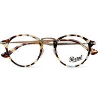 Persol Round Frame Tortoiseshell Acetate And Gold Tone Optical Glasses Tortoiseshell