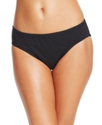 Anne Cole Solid Retro Scoop Bikini Bottom Women's Swimsuit Black