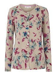 Tulchan Watercolour Flower Cardigan Grey