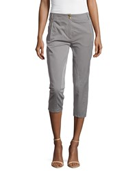 Escada Capri Slim Leg Riding Pants Graphite Grey