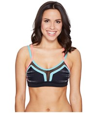 Trina Turk Light Speed Sports Bra Black Women's Bra