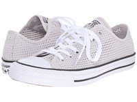 Converse Chuck Taylor All Star Perf'd Canvas Ox Mouse White Black Women's Lace Up Casual Shoes