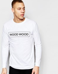 Wood Wood Long Sleeve Top With Logo White