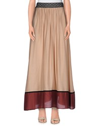 Mariella Rosati Skirts Long Skirts Women Skin Color