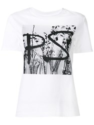 Paul Smith Ps By Digital Logo Print T Shirt White