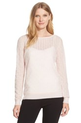 Classiques Entier Cashmere Textured Knit Sweater Pink