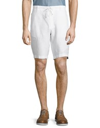 Perry Ellis Linen Shorts Bright White