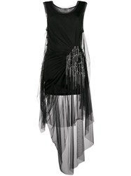 Faith Connexion Draped Tulle Dress Black