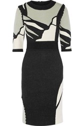 Raoul Intarsia Stretch Knit Dress Black