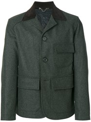 Doppiaa Fitted Jacket Cotton Polyamide Polyester Virgin Wool Grey