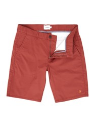 Farah Men's Hawk Chino Shorts Washed Red