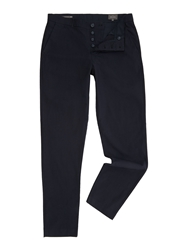 Peter Werth Renshaw Pindot Slim Fit Tailored Trousers Navy