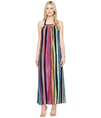 Maggy London Painted Stripe Maxi Dress Taupe Multi Women's Dress