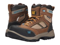Caterpillar Shaman 6 Waterproof Composite Toe Brown Muddy Spruce Yellow Women's Work Boots