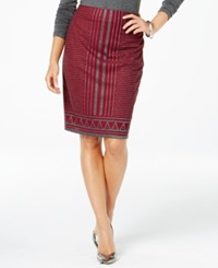 Studio M Geo Print Pencil Skirt