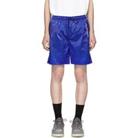 Filling Pieces Blue Translucent Track Shorts