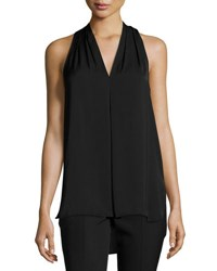 Max Studio Sleeveless Halter Blouse Black