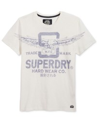 Superdry Men's Graphic Print T Shirt New Chalk