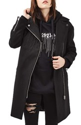 Topshop Women's Asymmetrical Biker Coat