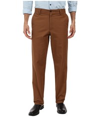 Dockers Easy Khaki Straight Flat Front Pants Tobacco Men's Casual Pants Brown